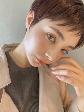 【PARK】マニッシュショート×ピンクベージュ
