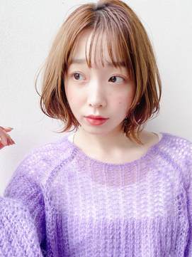 [K-two青山]大人かわいいシースルー前髪/ハイトーンカラー