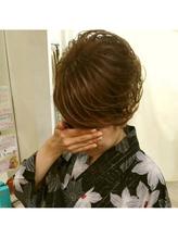浴衣スジ盛りアップ 盛り髪.18