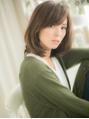 ■斜めバングと透け感カラー小顔に大人ボブ16-3★越谷30代40代!