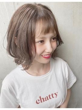 【Des.Art赤坂】 大人可愛い×ハイライトカラー×抜け感
