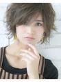【Lond jeloud】 エアリー小顔ショート☆ アッシュで透明感も♪