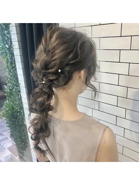 ASHLEY☆emi  結婚式御呼ばれヘアセット ゆるふわ編み下ろし