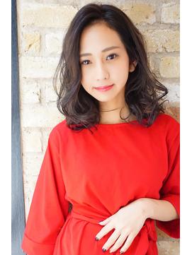 【Monan 新宿】☆工藤指名 前髪なしセミディ☆