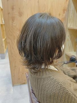 【ウルフボブ】 裾カラー 20代30代