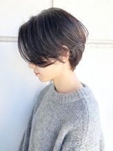 地毛風カラー ハンサムショート グレージュ 透明感 小顔.10