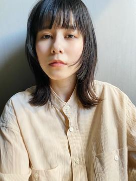 【石川】マロンベージュ/前髪/イメチェン/透明感/かきあげロング