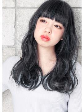 《 SAKI 》ネイビーグレージュ & 無造作ミディアム☆