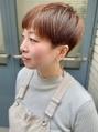 美シルエット/まるみショート/オレンジカラー/モテ髪カタログ