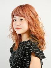 〈wave小豆餅店〉インナーユニコーンカラー×巻き髪アレンジ.45