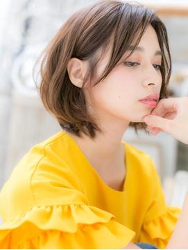 くせ毛風カールインナーカラー抜け感大人ボブf越谷20代30代40代!