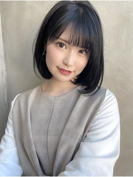 【金井】大人可愛いナチュラルボブ/ネイビージュ20代30代40代