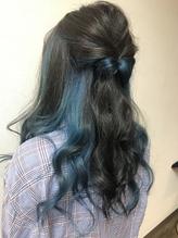 インナーカラー×ブルーグリーン.53