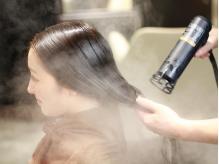 ナノの蒸気で栄養分をぎゅっと浸透《ナノスチームTreatment¥4320→¥2160》髪の内部までしっかり保湿補修!