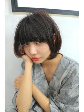 【ウノプリール小林】大人かわいい暗髪オリーブベージュボブ