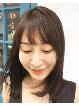 小顔シースルーバング&透け感たっぷりカラー【third 表参道】