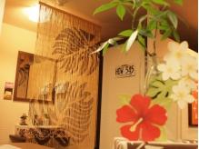 ◆バンブーカーテンがハワイらしさを演出◆