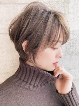[The C 重田悠作] ひし形シルエット 前髪あり ショートヘア