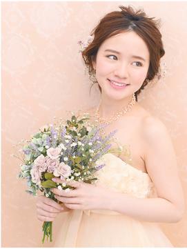 【花嫁ヘア】外国人風ゆるふわアップ サロンお支度 16500円から