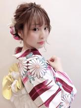 浴衣 成人式 卒業式 振袖 袴 ヘアアレンジ.3