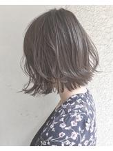 【Marl外国人風カラー】アッシュグレージュの無造作ボブ .3