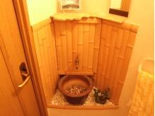 お見せ自慢のレストルーム。手洗いがとってもオシャレ!