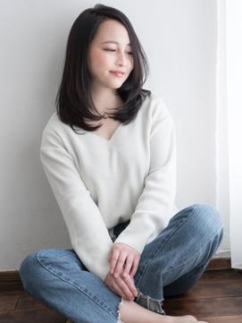 艶感ワンカール×センターパート☆大人ストレート