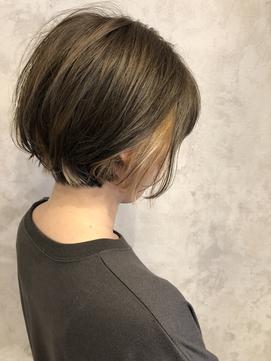 【インナーカラー】グレージュ/シナモンベージュ/ベージュ系