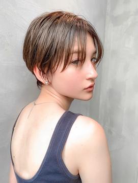 【HAVANA 渋谷】クールな耳かけショートボブ/ハンサムショート