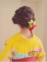 ☆Chouchou☆成人式・卒業式★編みこみヘアアレンジ シュシュ.39