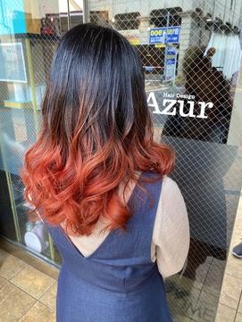 【Azur】レッドカッパー・ランダムグラデ