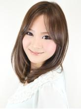 愛され上品ツヤ内巻きセンターパートミディアム 春色.24