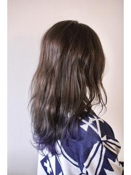 鬼滅カラー胡蝶しのぶカラー裾カラーセミロング