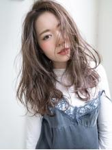 抜け感リラクシー☆女っぽアップバングロング フェミニン.46