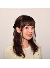 ふわふわ☆ハーフアップアレンジ ボサボサ.19