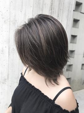 長谷川潤さん風オシャレナチュラルハイライト&ボブ