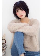 黒髪でもカワイイ☆とろみショートボブ 無造作.44