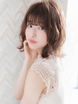 【ROMA】最旬くすみピンク/デジタルパーマ小顔無造作カールロブ