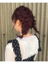 ベリーピンク × 編みこみおさげ.1