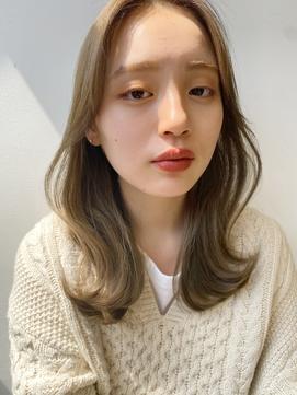 【吉原潤】20代30代40代◎大人かわいい韓国ヘア/センターパート