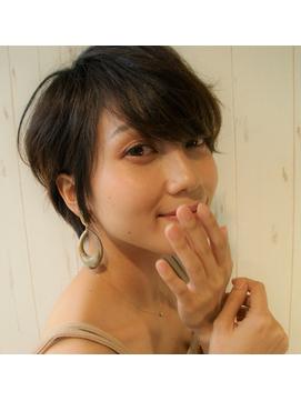 大人かわいい小顔ひし形ショートボブ20代30代40代☆