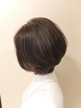 【40代お客様】前髪なしの上品大人ショートボブ。.1