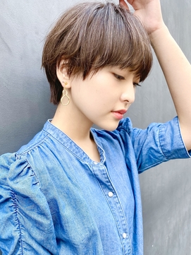 【December】大人かわいい ブランジュ 前髪ありマッシュショート