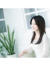 【仲間由紀恵さん風】浮遊感のあるモテモテ小顔愛されセミロング .46