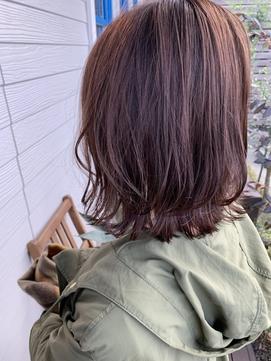 パープル×レイヤーボブ【東区/帯山/長嶺/髪質改善/縮毛矯正】