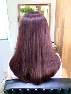 ブリーチなし!艶髪ピンクラベンダー 透明感ピンクカラー 忠願寺