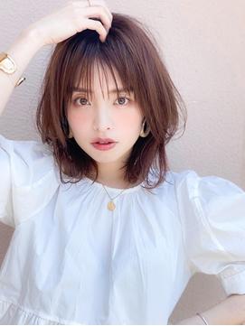 《Agu hair》シースルーの透け感×涼しげミディ