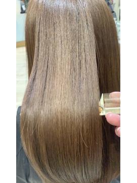 【酸熱トリートメント】髪質改善ツヤ髪縮毛矯正ロング
