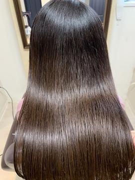 杉嶋梨紗 髪質改善 イヤリングカラー ラベンダーカラー