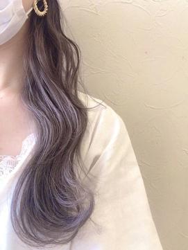 【Zina 銀座中央通り】ツヤ髪×色っぽラベンダーグレージュ